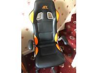 AFX Recaro Style Gaming Chair. - Black & Orange
