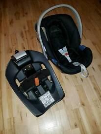 Mamas & Papas Cybex Aton Baby Car Seat & Isofix Base Infant Carrier