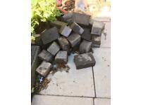 Assortment of concrete block paving