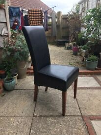 Leather dining chairs x 10. Can be bought seperately. Bought from Beales Bournemouth