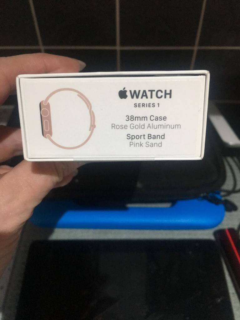 Apple Watch Series 1 Rose Gold 38mm In Gomersal West Yorkshire 2 Aluminum Pink Sport Band