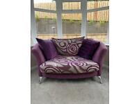 2 seat sofa and accent chair