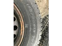 4 fiat panda wheels and tyres.