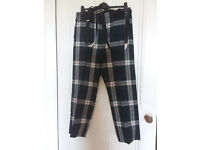 Men's Tartan trousers/Scottish plaid trews