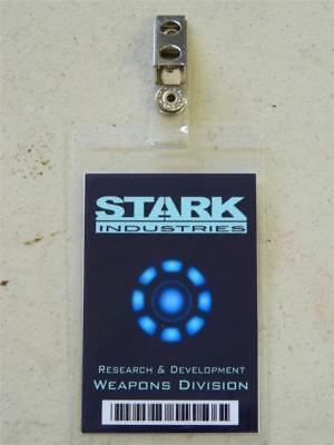 HALLOWEEN COSTUME MOVIE PROP - ID/Security Badges (STARK INDUSTRIES, IRON - Halloween Costume Industry