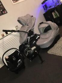 Travel system and isofix
