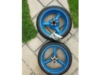 Suzuki gsxr wheels front and rear