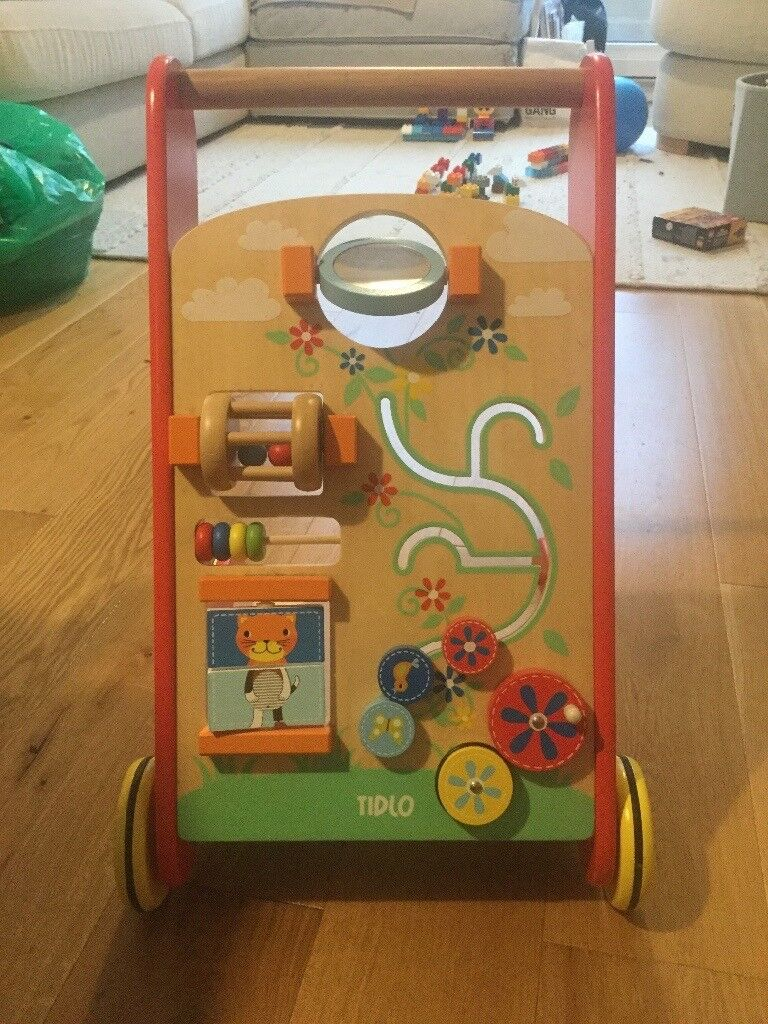 Lovely wooden baby activity walker