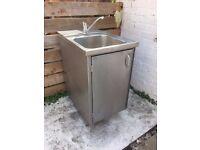 Freestanding Stainless Steel Industrial Sink - Used