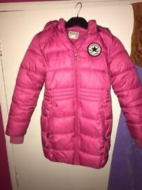 Girls padded converse jacket - age 8-10 years