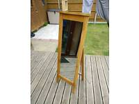 Solid Wood - A frame Style - Free Standing Mirror, VGC - £30 Collection from Gorleston.