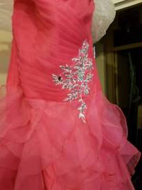 Brand new Pink frilly ball gown dress size 12