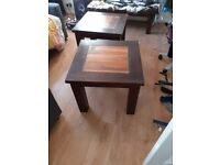 Table and chair/ and bedside table