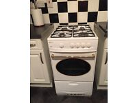 White Beko gas free standing cooker 50 cm good working Order great condition collection only