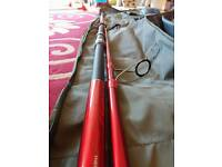Daiwa 12ft fishing rod, Daiwa windcast z reel brand new never used and lots of extras