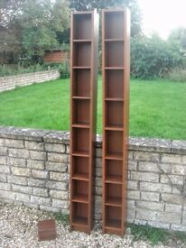 Ikea Benno cd tower in dark wood - 2 available. PE9