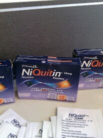 Nicorette patches and niquitin patches 25 mg and 14 mg