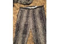 Snake print trouser size 12-14
