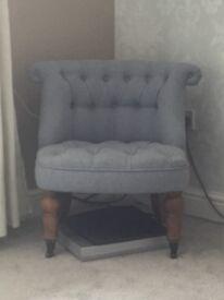 Duck egg blue chair