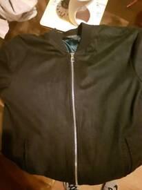 Zara suede bommer jacket L