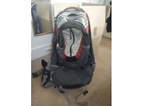 Mountain Design 75L backpack with detachable day pack. Great for travelling and really sturdy