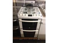 Zanussi 55cm white gas cooker (glass lid)