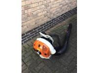 Stihl br600 back pack garden leaf blower