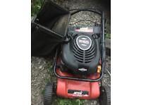 Electric start petrol lawn mower & muncher