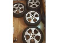 Golf vw gti monza 17inch alloys wheels 5 x 112 £330