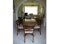 Mahogany Dining Table and 6 Chairs (+ Mahogany Effect/Veneer Sideboard)