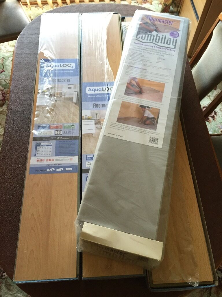 Beech Floormaster Aqualoc Laminate Flooring Unused 5 Packs Over 7 Sqm 10