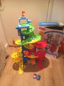 Fisher Price Little People City Skyway with cars