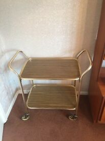 Retro gold-framed trolley