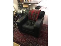 Designer Aniline Leather Armchair (Very Soft) - Sept Pickup