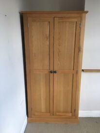 Solid wood slim wardrobe. 80cm purchased for £500 in September 2016