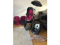 ICandy peach pushchair & maxicosi baby seat