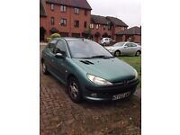 Peugeot 206 Green 1.6L 2002 Great Condition Perfect First Car