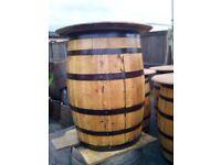 Oak Whisky Barrel Table