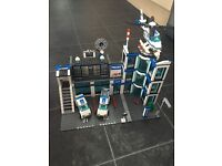 Lego Police sets - complete - including station, helicopter, cars and van