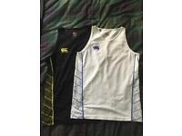 Black and white Canterbury rugby vests medium