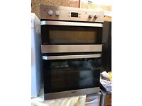 For Sale - Beko Electric Double Oven, Built-In, Stainless Steel, Used
