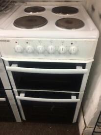 White beko 50cm electric cooker grill & fan oven good condition with guarantee guarantee