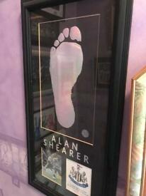 Alan Shearer footprint