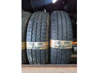 2x 175-14c Hankook 99/98Q 6mm Part Worn Tyres