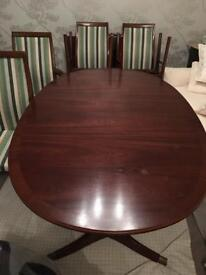 Original G Plan dining table and chairs