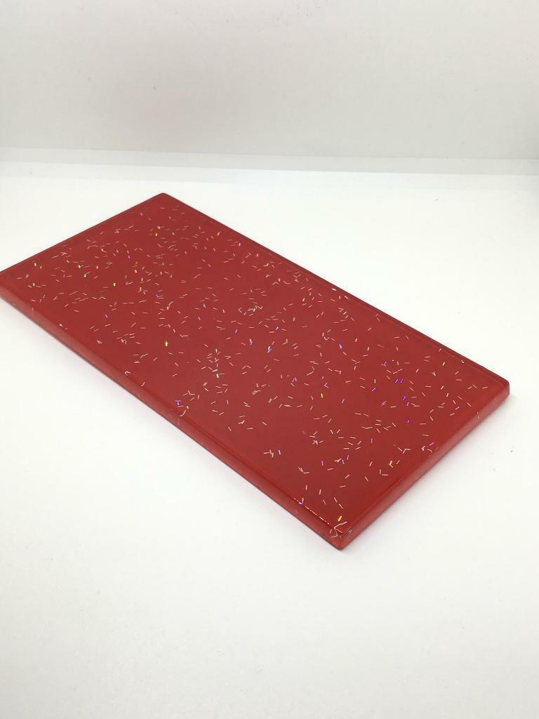 Red Glitter Glass Metro Subway Wall Tiles In Aberdare