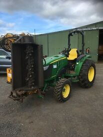 JOHN DEERE 4066 HEAVY DUTY COMPACT TRACTOR,66HP,INCLUDES FRONT FLAIL,NO VAT