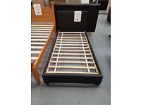 Brand New Black Leather Single Bed With Mattress. Already Built And Can Deliver