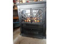 Cast iron stove electric flame effect fan heater , QUIET!!