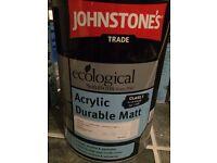 Johnstone's Trade Paint (Farrow & Ball colour 'Tallow') x 4 tins
